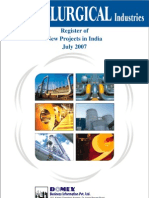 Register of New Projects in India-Metallurgical Industries