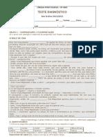 Teste diagnóstico 8º_2011