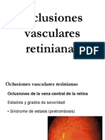 Oclusiones vasculares retinianas
