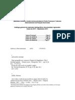 Catálogo de la Biblioteca Perito Francisco P.Moreno Ene-Sep-2011