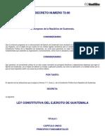 Ley Constitutiva Del Ejercito de Guatemala