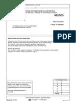 Chemistry Paper 3 '03