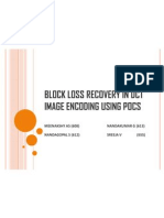 Block Loss Recovery in DCT Image Encoding using POCS ppt