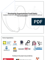 Developing Organizational Food Policy
