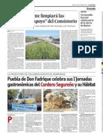 Nota de Prensa de las I Jornadas Gastronómicas del Cordero Segureño (Granada Hoy)