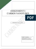 Carbon Nanotubes Asignmnt