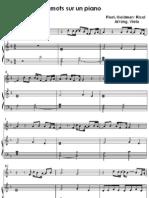 4 Mots Sur Un Piano - J J Goldman