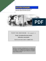 Test - Bender Koppitz Escala De Maduracion Neuro Motriz