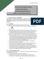 Handout 2 - Java Basics Using a Simple Class