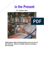 Living in the Present - Subramanian A
