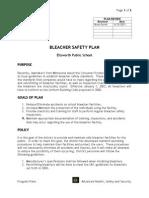 Ellsworth Bleacher Safety Plan