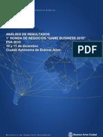 Informe de Resultados Game Business   EVA 2010. Sector Videojuegos