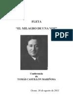 Conferencia sobre Miguel Fleta