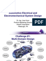 Automotive Electrical And Electromechanical System Design