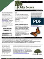 GreenOaksNewsletterOct2011