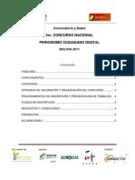 Convocatoria y Bases 3er Concurso de Periodismo Ciudadano 2011