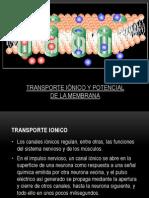 Transporte Ionico y Potencial de La Membrana