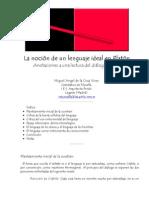 Miguel Angel de la Cruz Vives_ La noción de un lenguaje ideal en Platón -nº 20 Espéculo (UCM)