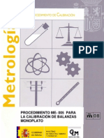 (CEM) Calibración de balanzas monoplato