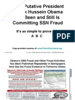 Proof Putative President Obama is Committing SSN Fraud - PPT Presentation by CDR Kerchner (Ret)