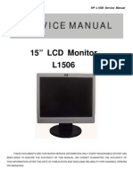 AOC Service Manual HP L1506 TSU15AK A00 Monitor Lcd