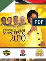 Peoples Manifesto 2010
