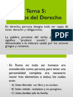 Tema V Sujetos Del Derecho