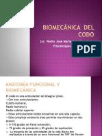 Biomecánica  del codo