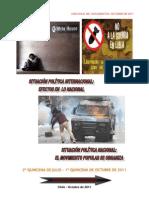 Análisis Internacional-Nacional Chile, Julio-Octubre 2011 (rev.)