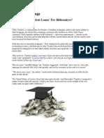17-10-11 Do We Need 'Student Loans' For Billionaires?