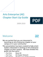 Arts Enterprise (AE) Start Up Guide