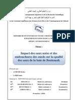Impacts des eaux usées et des embouchures des oueds sur la qualités des eaux dans la baie de Bouismail.