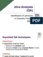 Ch 11 Qualitative Analysis (QA)