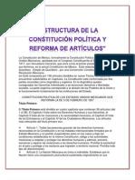 Estructura de La Constitucion Reforma de Un Articulo o