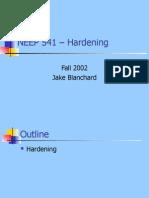NEEP541 Hardening