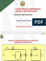 Circuito Equivalente, Perdidas, Flujo de Potencia y Eficiencia de las Máquinas Asíncronas o de Inducción Trifásicas