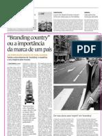 2007-03 Country Branding, la importancia de una marca pais, diario Economico Portugues, marzo 2007