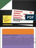 MEMORIA HISTORIA COLETIVA Presentación1