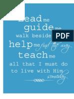 Lead me, guide me~