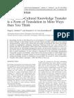 Cross-Cultural Knowledge Transfer
