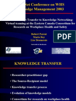 From Knowledge Transfer to Knowledge Networking 2