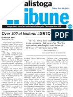 Napa LGBTQ Forum -Calistoga Tribune - 2011-10-14