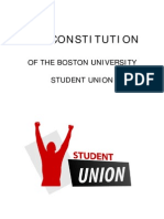 Student Union - Working Constitution