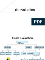 Scale evaluation
