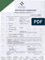 Certificado Pie de Rey