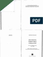 Foucault - Seguridad, territorio y población  (libro completo) buscar clases