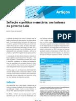 2006.11 - Inflação e política monetária - um balanço do governo Lula
