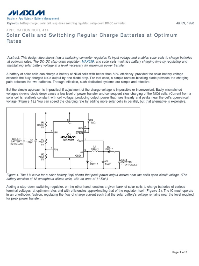 An 414 Battery Electricity Charger Requirement For The Proposed Desulfator With Circuit