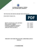PROJETO MULTIDICIPLINAR - PMA I - DESAFIO DE APRENDIZAGEM- 3º SEMESTRE (2º MÓDULO)