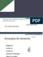 Jerarquía De Memoria Y Organización De La Memoria